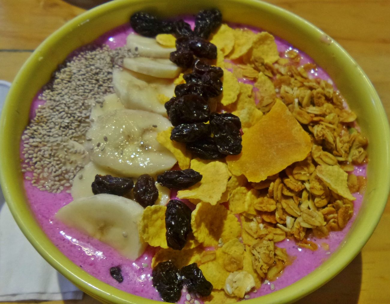 Breakfast Smoothiebowl Smoothie Clean Eating Banana Granules