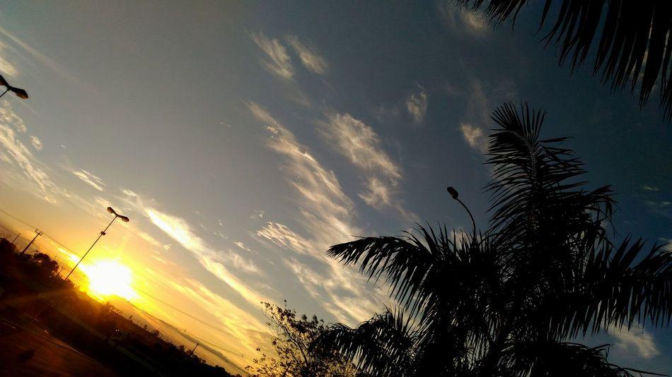 End Day Sky Sunset Orange Sun