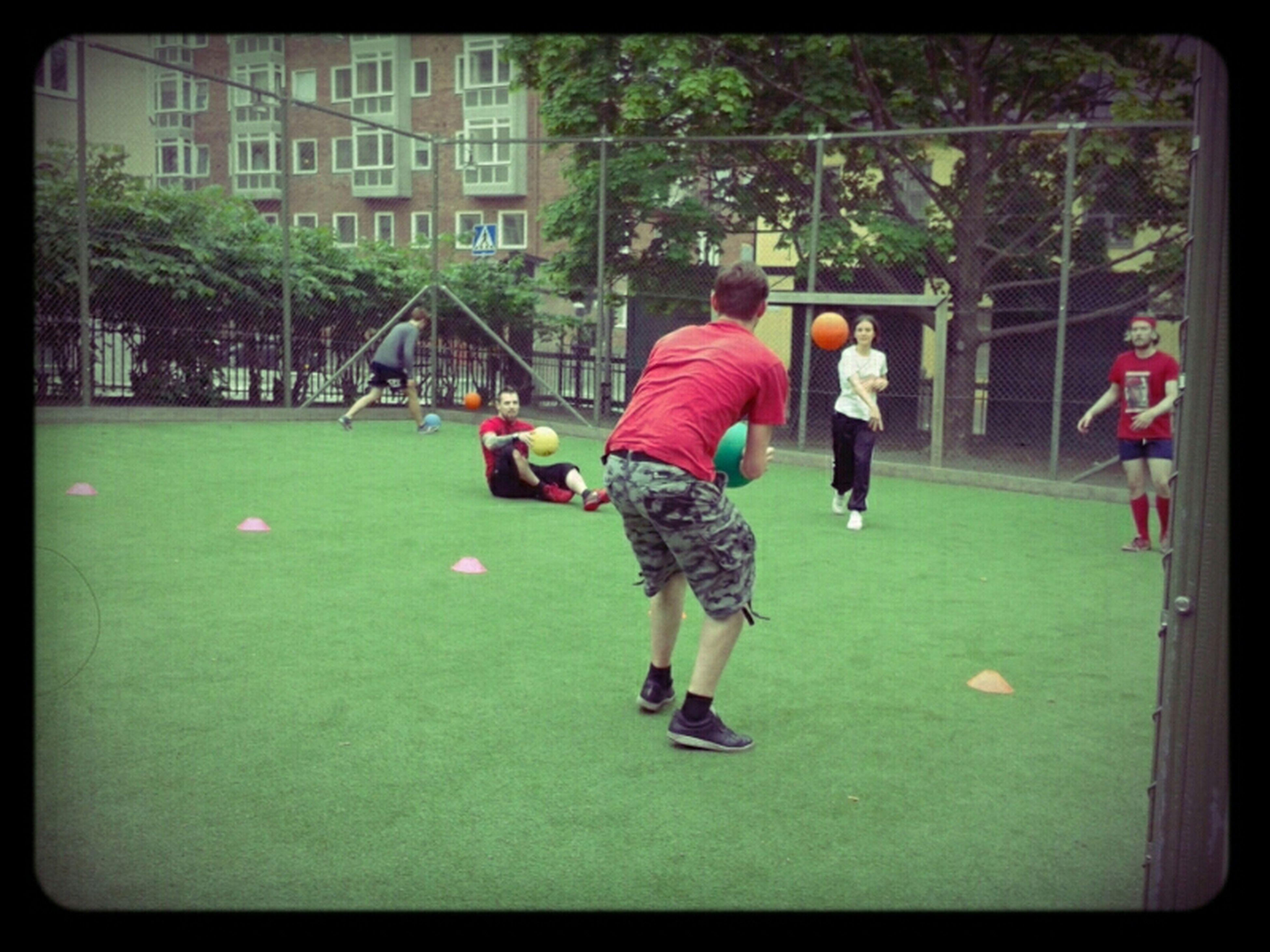 first time playing dodgeball, with cool kids. Dodgeball Association Björkgårds Skolan