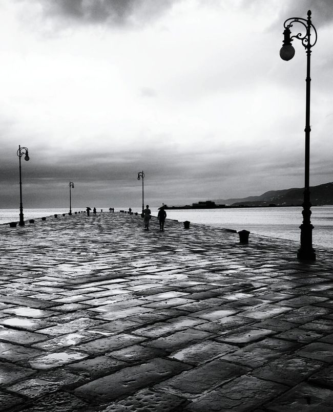 Monochrome Photography Monochrome Outdoors Horizon Over Water Sky Clouds Sea Water After Rain Rainy Day