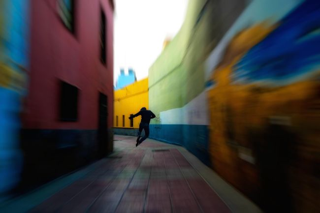 Jumping to life Selfportrait Architecture Blurred Motion Building Exterior Built Structure Canary Islands Colorful Colors Full Length Happy Jumping Life In Motion Lifestyle Lifestyles Man Multi Colored Selfie Selfportrait Street Streetcolor Streetcolour Streetphotography Subway Station The Way Forward Urban Walking