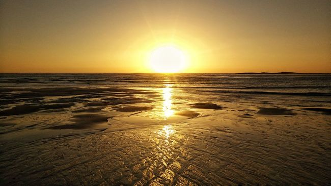 Sunset! Sunset Sea Beach Nature Horizon Over Water Tranquility Portugal EyeEm Eye4photography  Water Reflections Panoramic Photography
