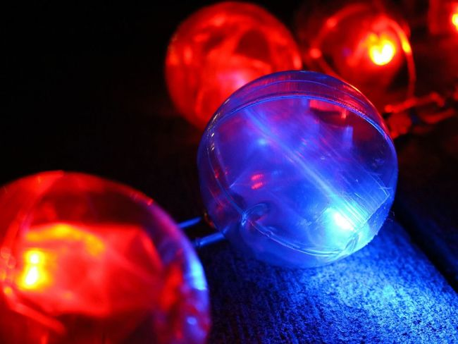 Illuminated Lighting Equipment Red Night Christmas Decoration Celebration Christmas Ornament Disco Ball Nightclub Bauble Multi Colored Close-up Nightlife Indoors  Arts Culture And Entertainment No People Christmas Blue Disco Lights