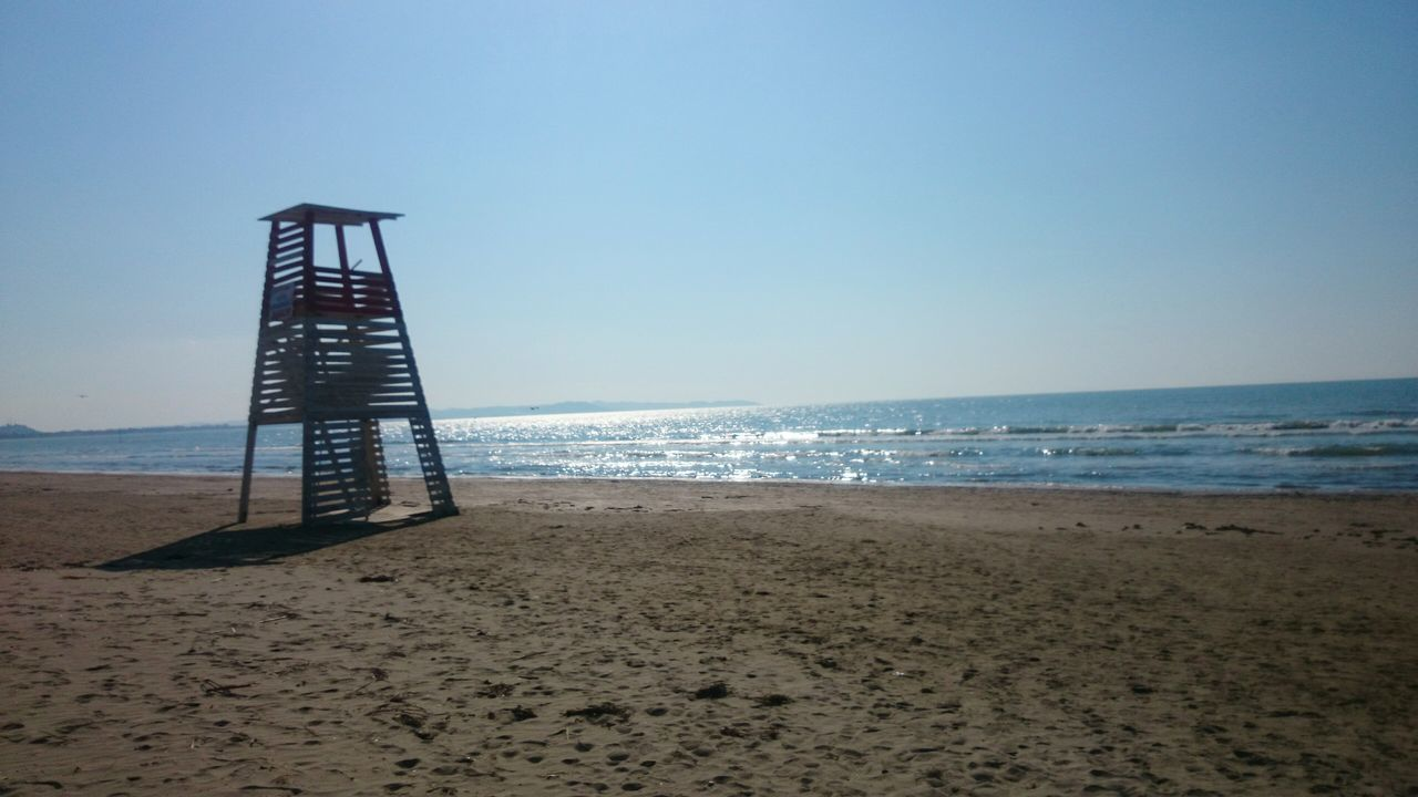 See Beach Sand Blue Sky Lifeguard  No People Durres Al EyeEmNewHere