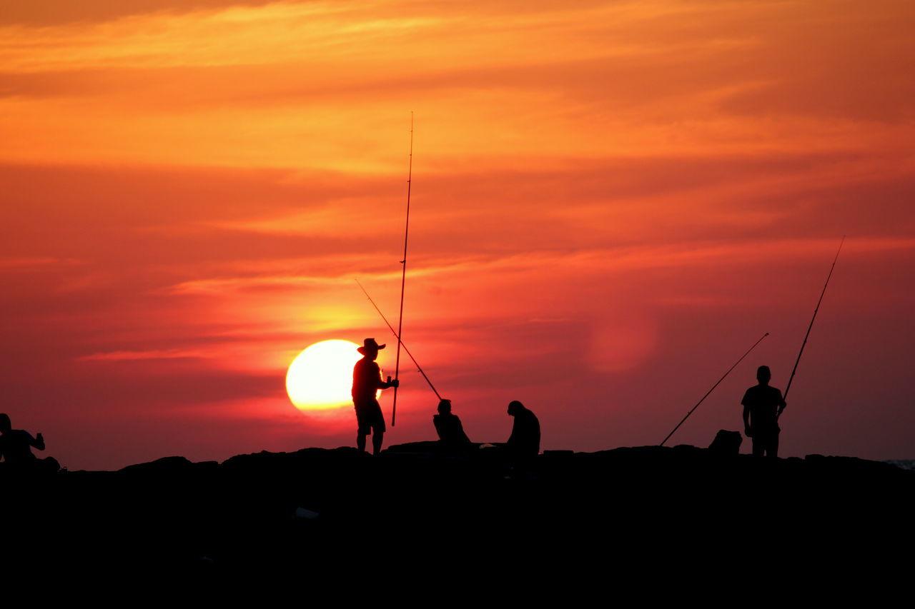 Beautiful stock photos of fishing, Beauty In Nature, Cloud, Fishing, Fishing Rod