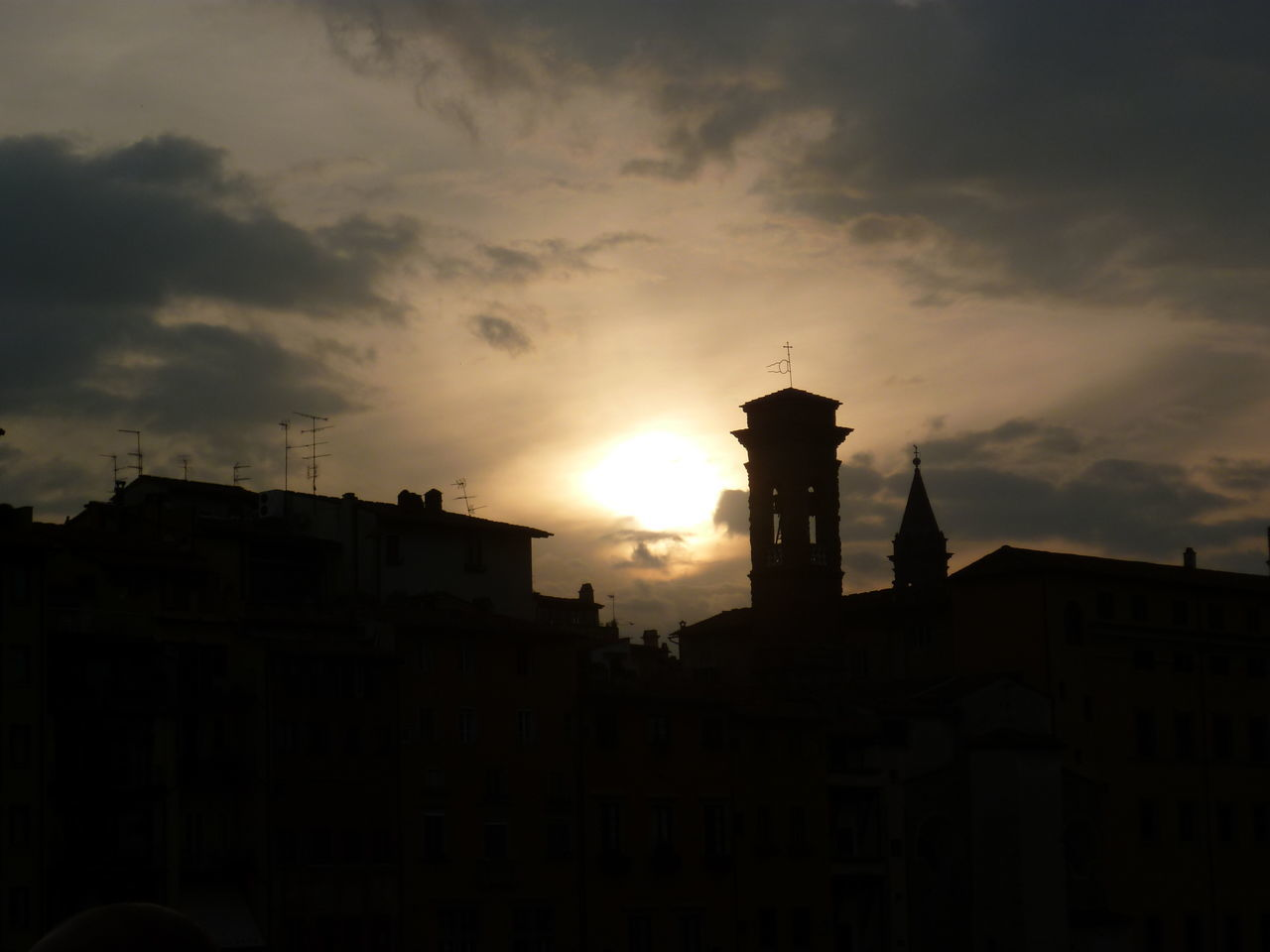 sunset, architecture, building exterior, built structure, sky, no people, sun, silhouette, cloud - sky, outdoors, city, day