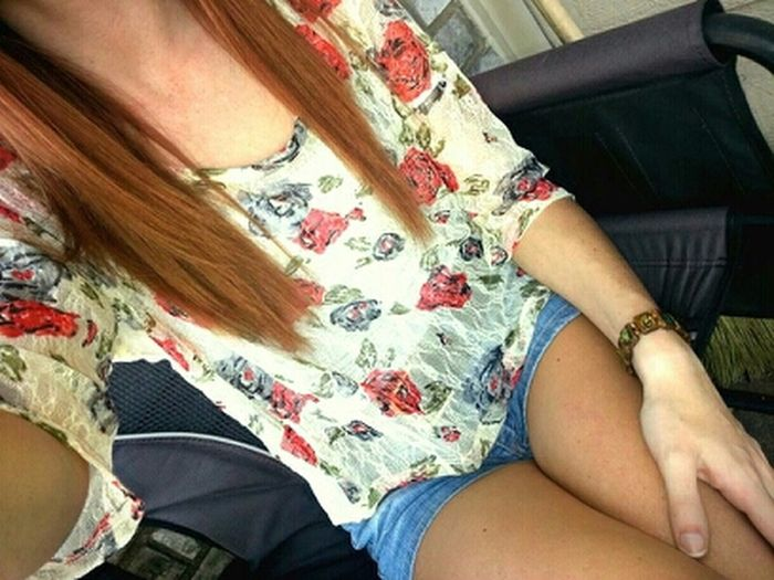 Ootd. Thank God.  Shorts.  Warm Weather.  Floral.