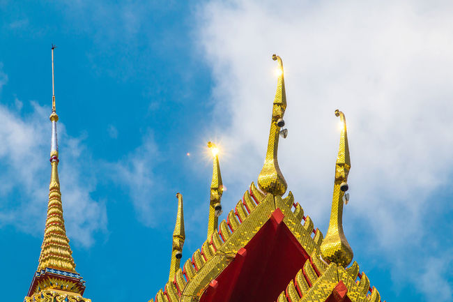 There are many amazing temples in Thailand. Amazing; Architecture; Buddhist Culture Ceremonial; Colorful; Culture; Decoration; Entrance; Exterior; Faithful; Gold; Grand; Heritage; Landmark; Miracle; Monk; Mosaic; Pray; Red; Religion; Sculpture; Temple; Thai Art; Thai Dragon; Traditional;