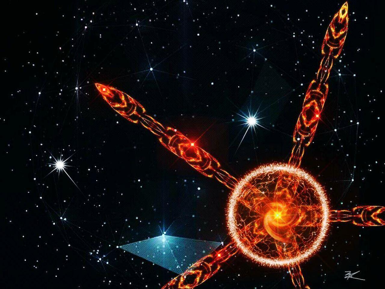 Star - Space Night Illuminated Space My Artwork Digital Art Abstract Art
