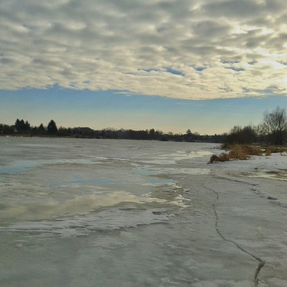 Zalwe Żyrardowski Ice River poland igerspoland nature winter mobilnytydzien mobileartistry sky snapseed snow bluesky ig_allaroundyou ig_masterpiece landscape light morning photooftheday splendid_shotz samsung wearejuxt zyrardow