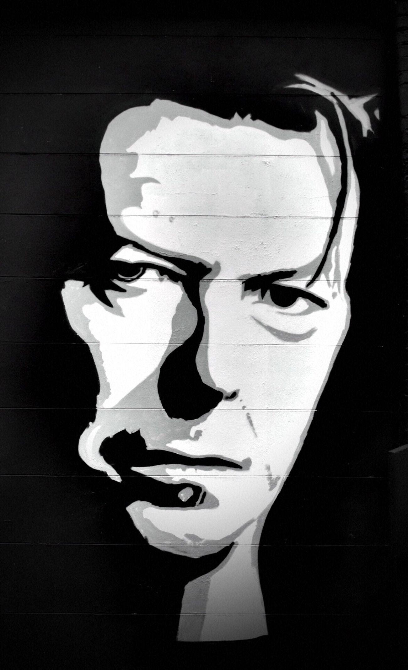 Close-up No People Black Background Streetphotography Streetart Blackandwhite Streetphoto_bw Nikonphotography Nikon Bowie Bowie