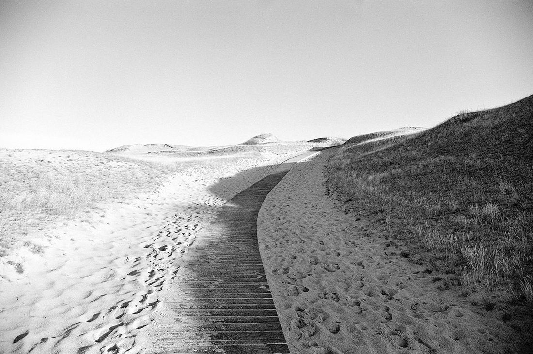 Clear Sky Curonian Spit Dead Dunes FootPrint Landscape Lithuania Nature Natural Pattern Neringa Power In Nature Sand Sand Dune Water
