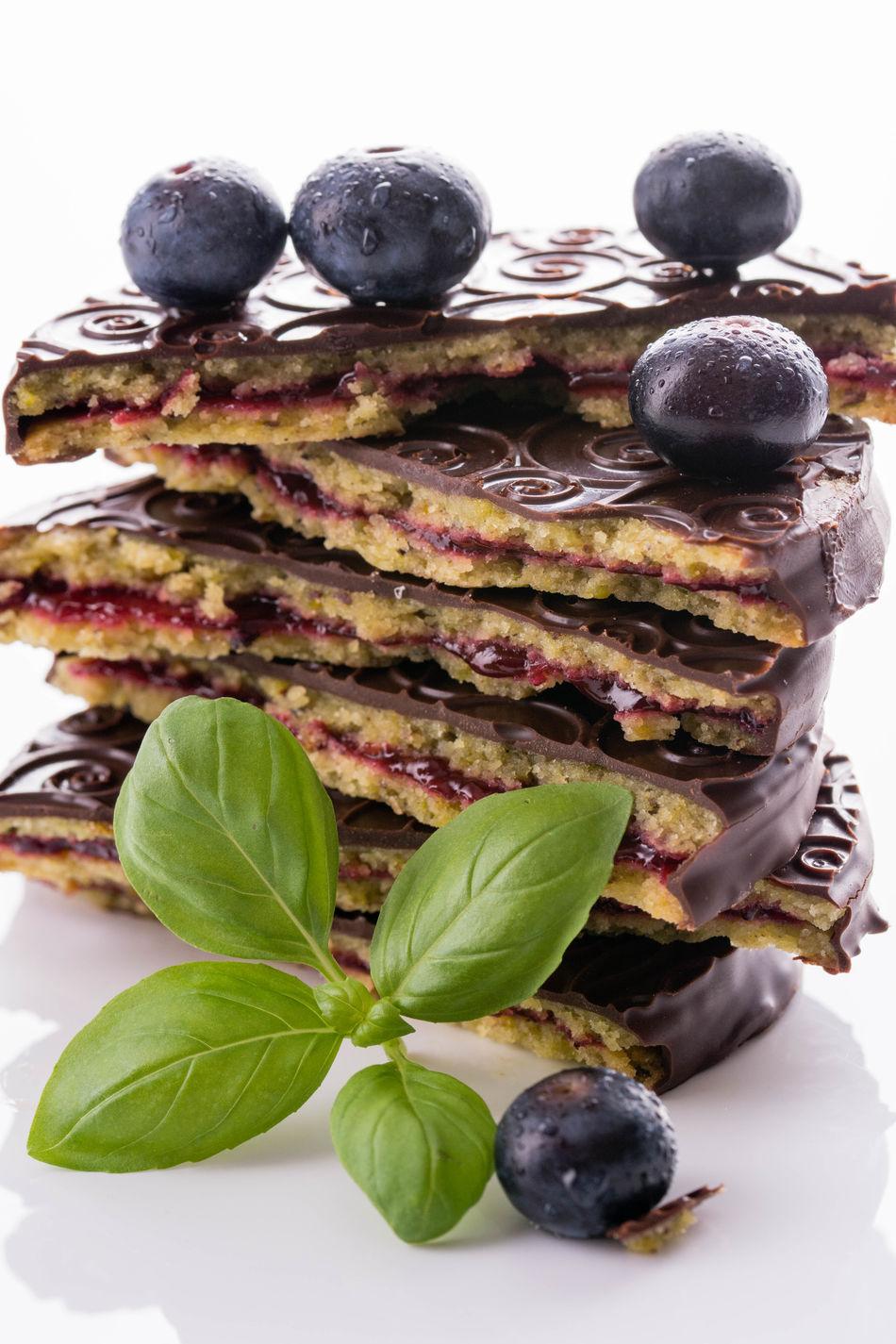 Cake Chokocake Dessert Food Studio Shot White Background