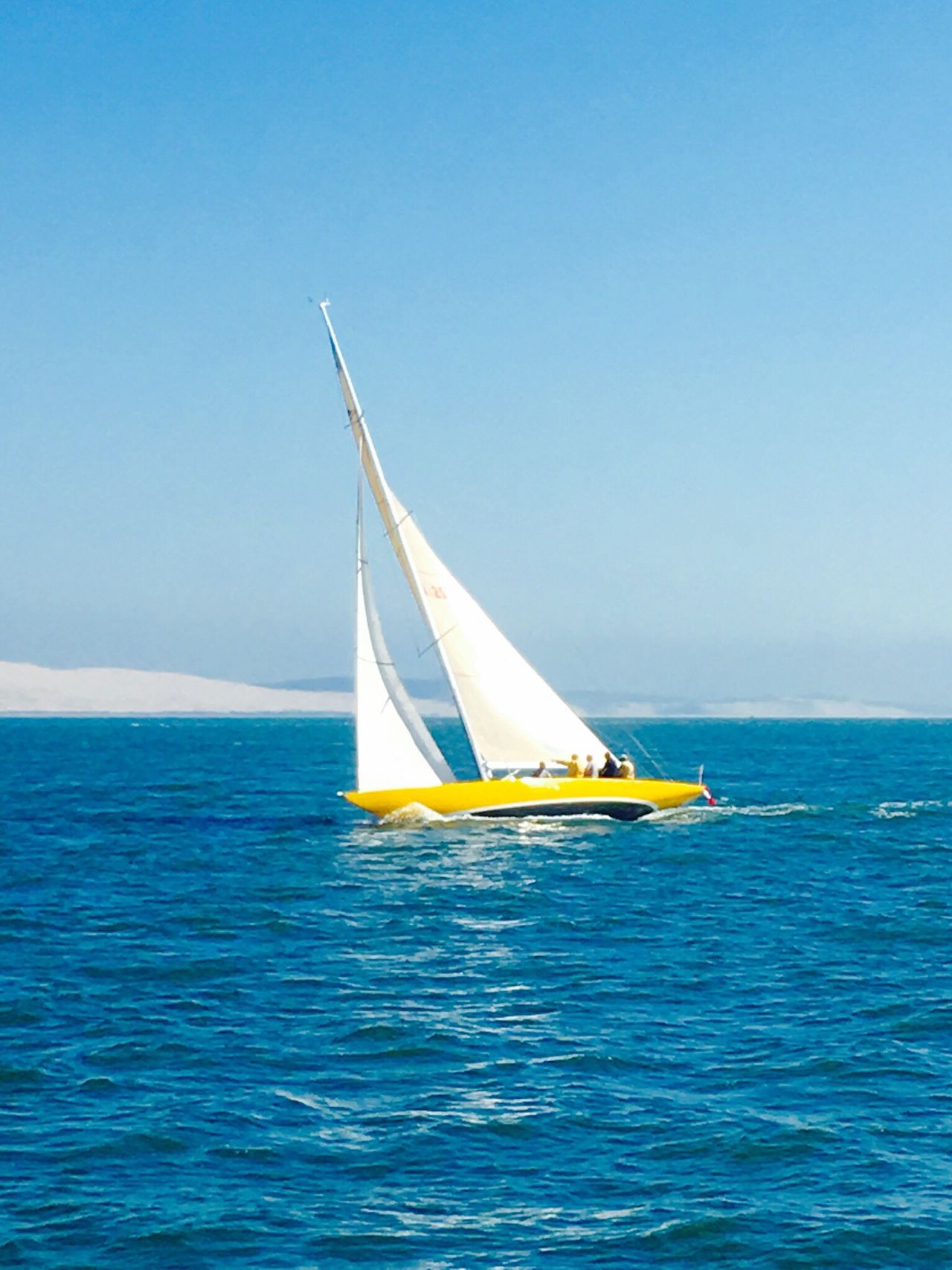 Sea Blue Nautical Vessel Sky Transportation Canvas Sailboat Horizon Over Water Sailing Water Clear Sky Outdoors No People Nature Day Yachting