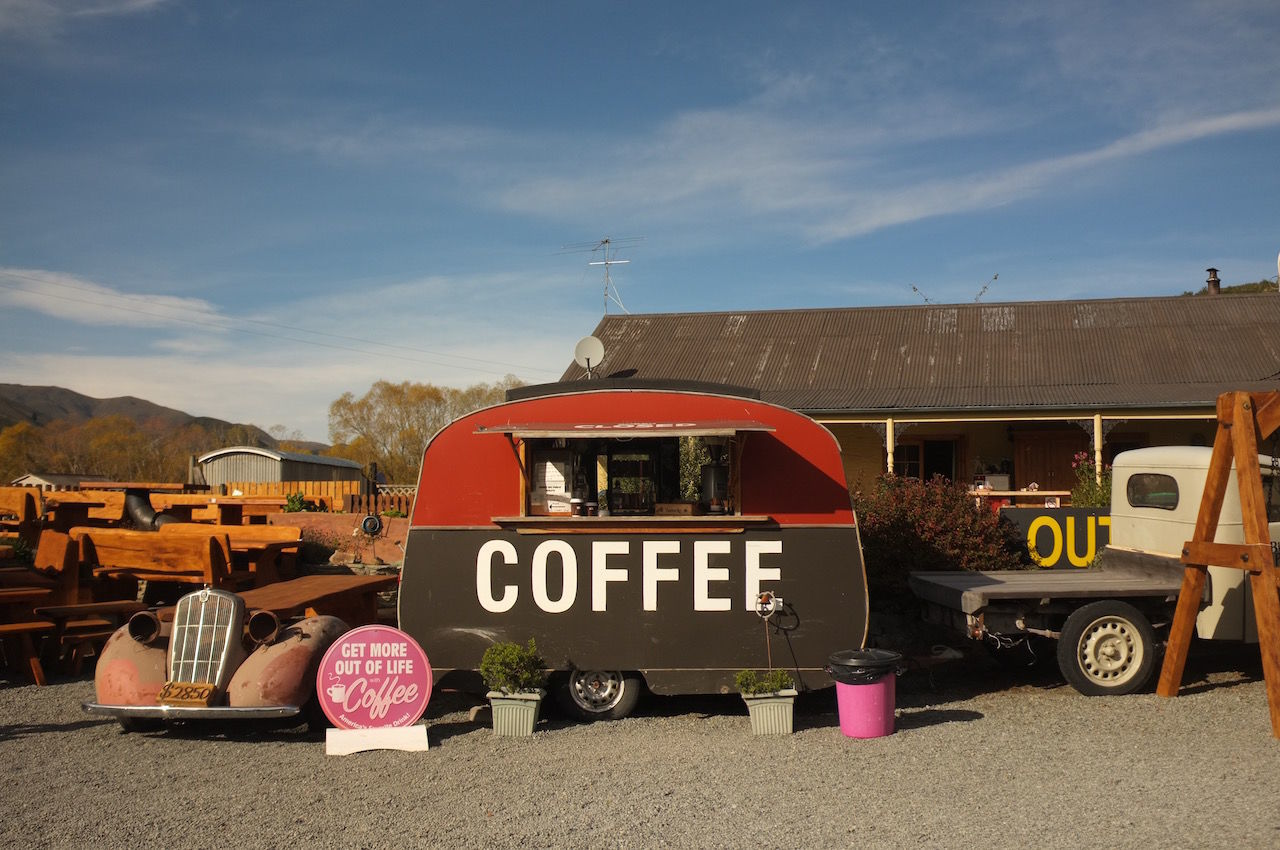 Classic Coffee Shop Day New Zealand No People Old Shop Sky South Island New Zealand