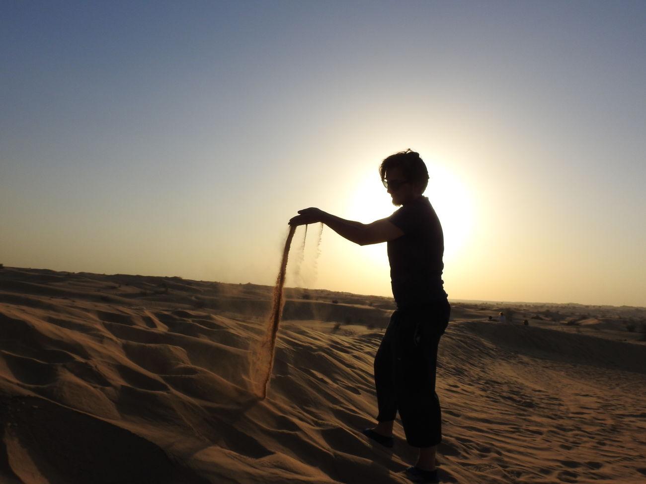 Dubai Sunset Sand Desert Sky Sand Dune Nature Sunlight