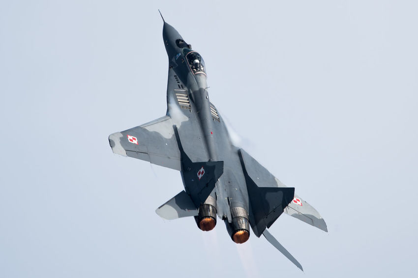 Mig-29 Plane Planespotting Airday Airplane Airshow Clear Sky Fighter Plane Flugshow Flying Jet Military No People Planespotters Sky Top Gun