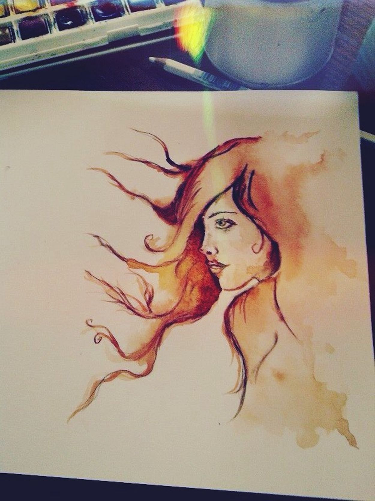 Watercolor Painting Drawing ISketches