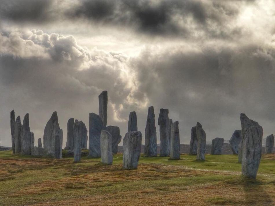 Cloud - Sky No People Nature Sky Outdoors Travel Destinations Grass Day Storm Cloud Beauty In Nature Travel Scotland BonnieScotland Tourism Tranquil Scene Standing Stones Isle Of Lewis