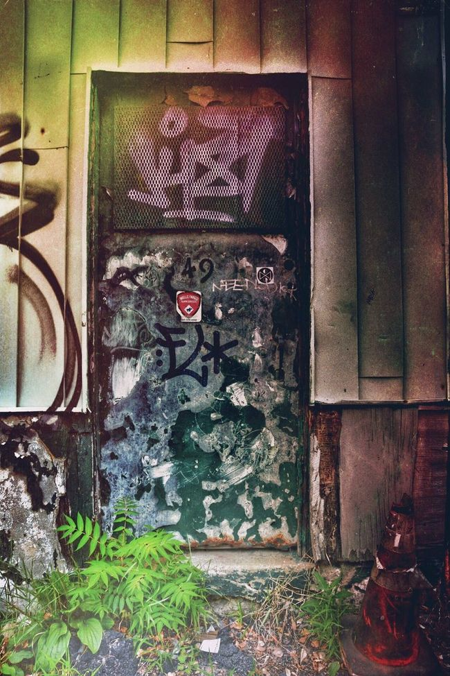 Door Graffiti Urbex Decay Melancholic Landscapes Beauty Of Decay Streetphotography Light And Shadow Mood Urban Landscape