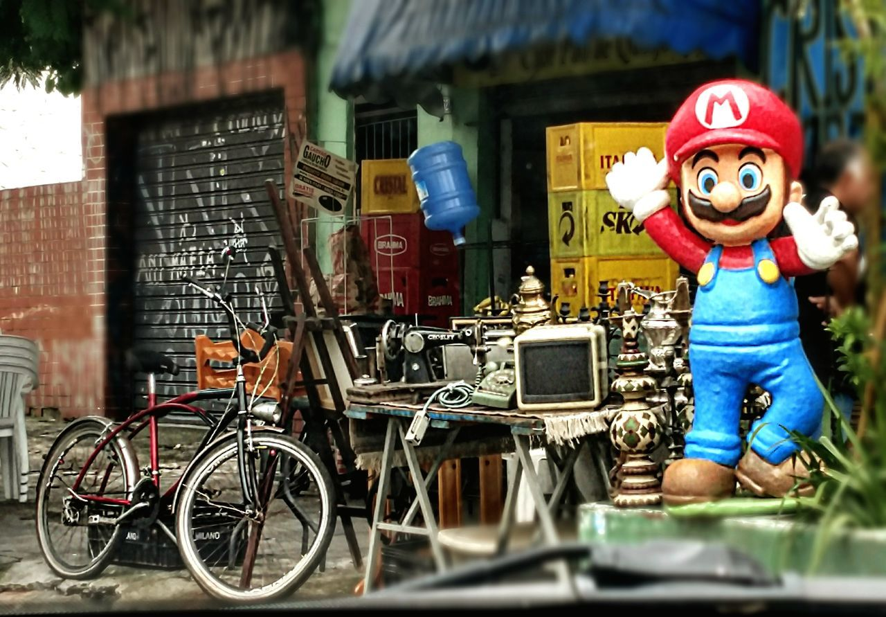 Around São Paulo - Outdoors São Paulo Real Life Mario Bros Old Stuff Bicycle Colections Toy Art Big Toy Streetphotography Strreet Mobile Photography Brazil Around Sao Paulo Lieblingsteil Miles Away