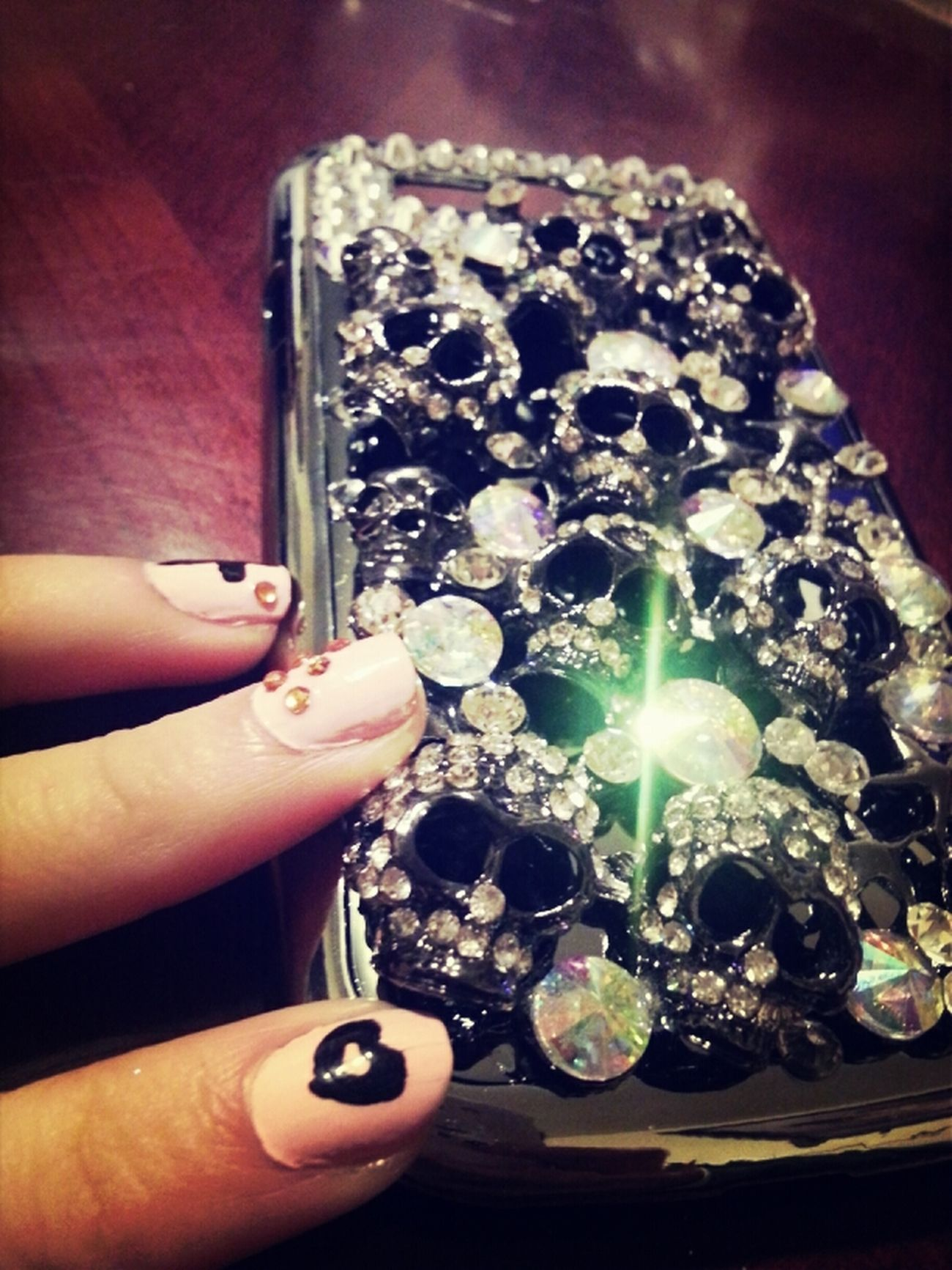 Skull Silver  Diamonds New Case GS3 In Love With It