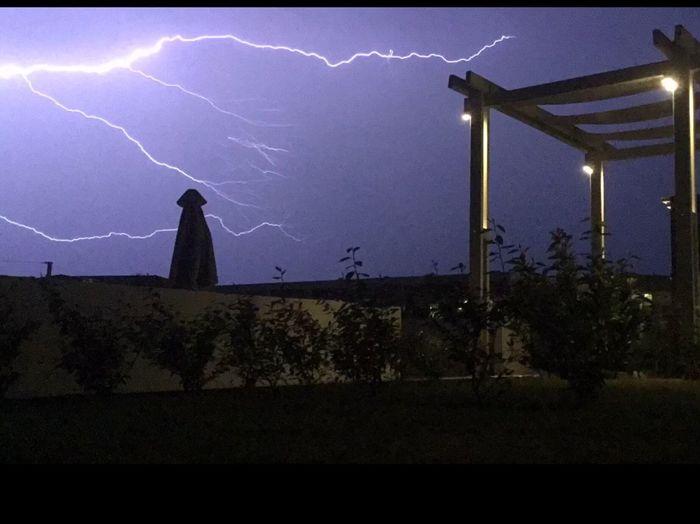 Lightning Strikes Greece Night