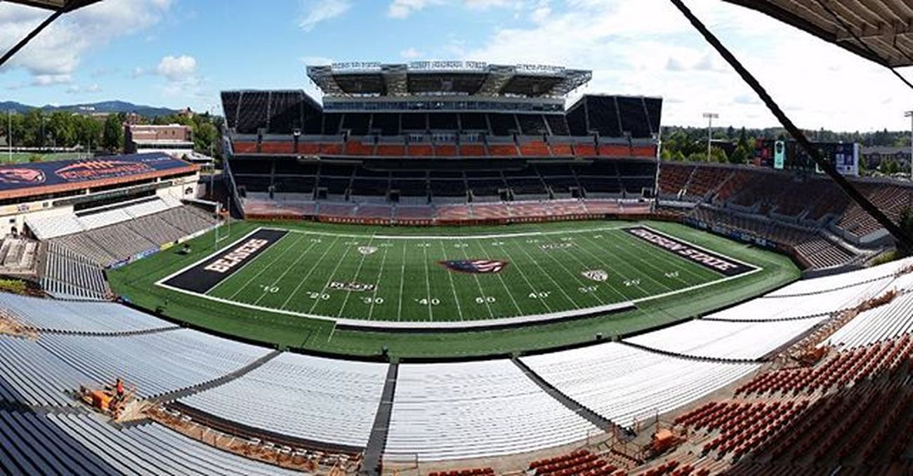 Calm before the storm ReserStadium . For our Crew Collegefootball starts today. Kick off of the season Weberstate at OregonState on Pac12Networks tonight 5pm PST Tvland making Tvmagic