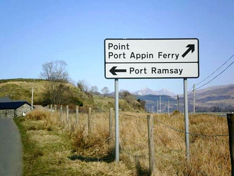 2010, Isle of Lismore Information Sign Guidance Scottish Scenery Scotland Scottish Highlands Countryside Highlands Port Appin IsleofLismore Isle Of Lismore