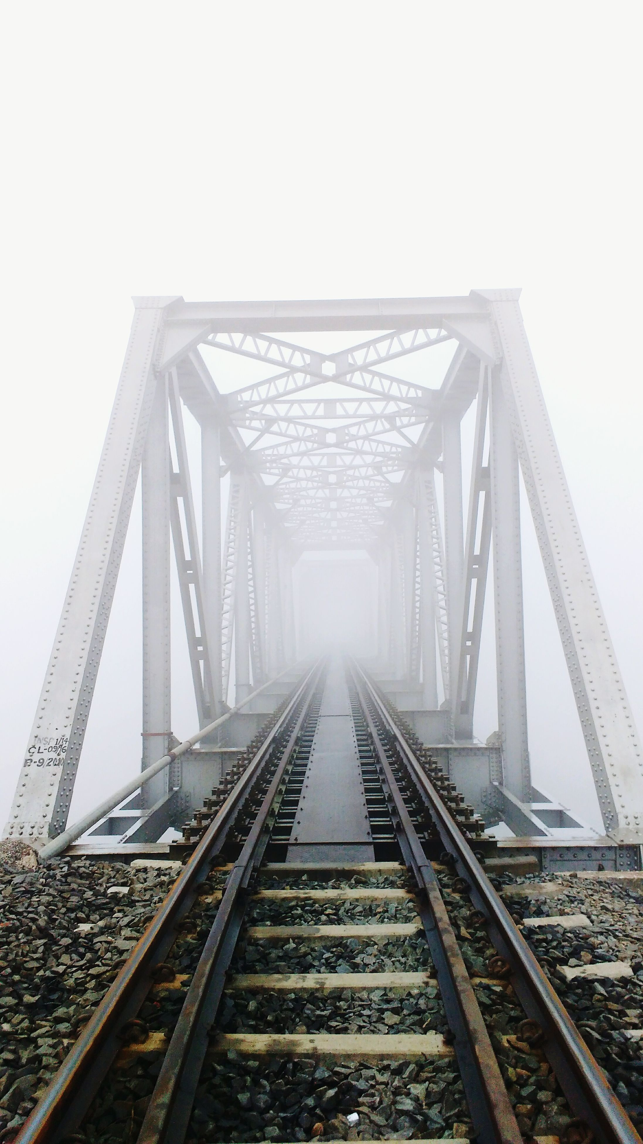 bridge - man made structure, fog, outdoors, sky, connection, the way forward, architecture, no people, day