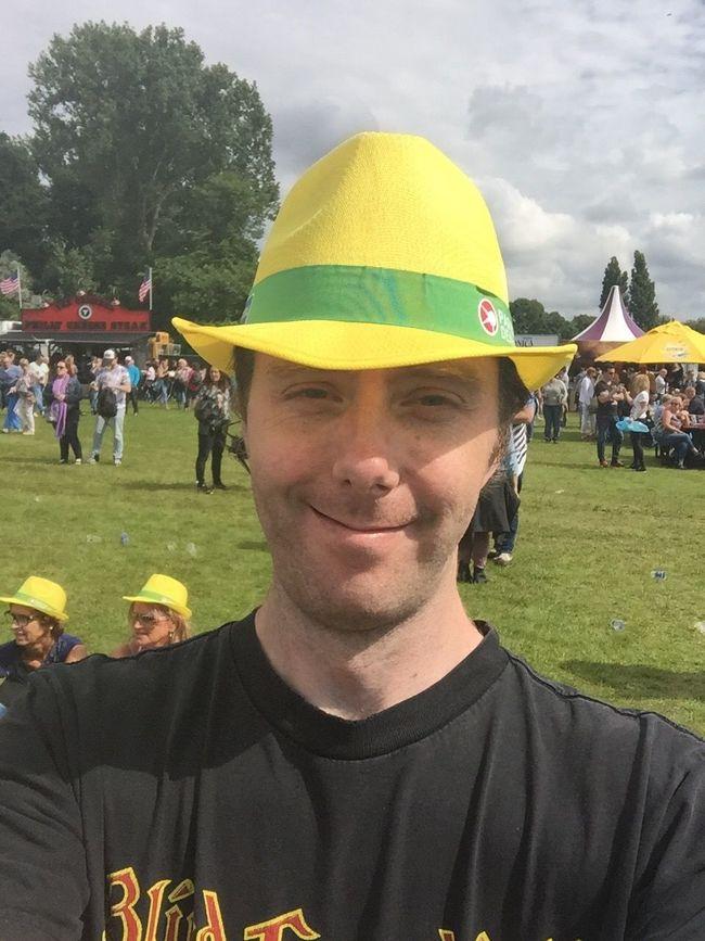 Hello World ThatsMe Thats Me  Yellow Hat Funny Pics