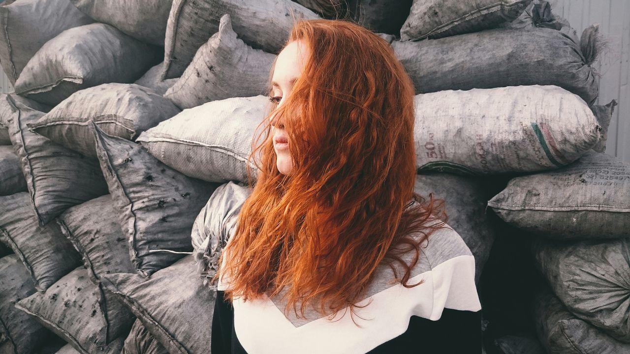 Beautiful stock photos of sad, Bag, Day, Head And Shoulders, Medium-Length Hair