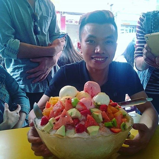 Hello summer Chậu kem cho ngày nắng :v Kaohsiung Qijin Cream Huge Taiwan Summer