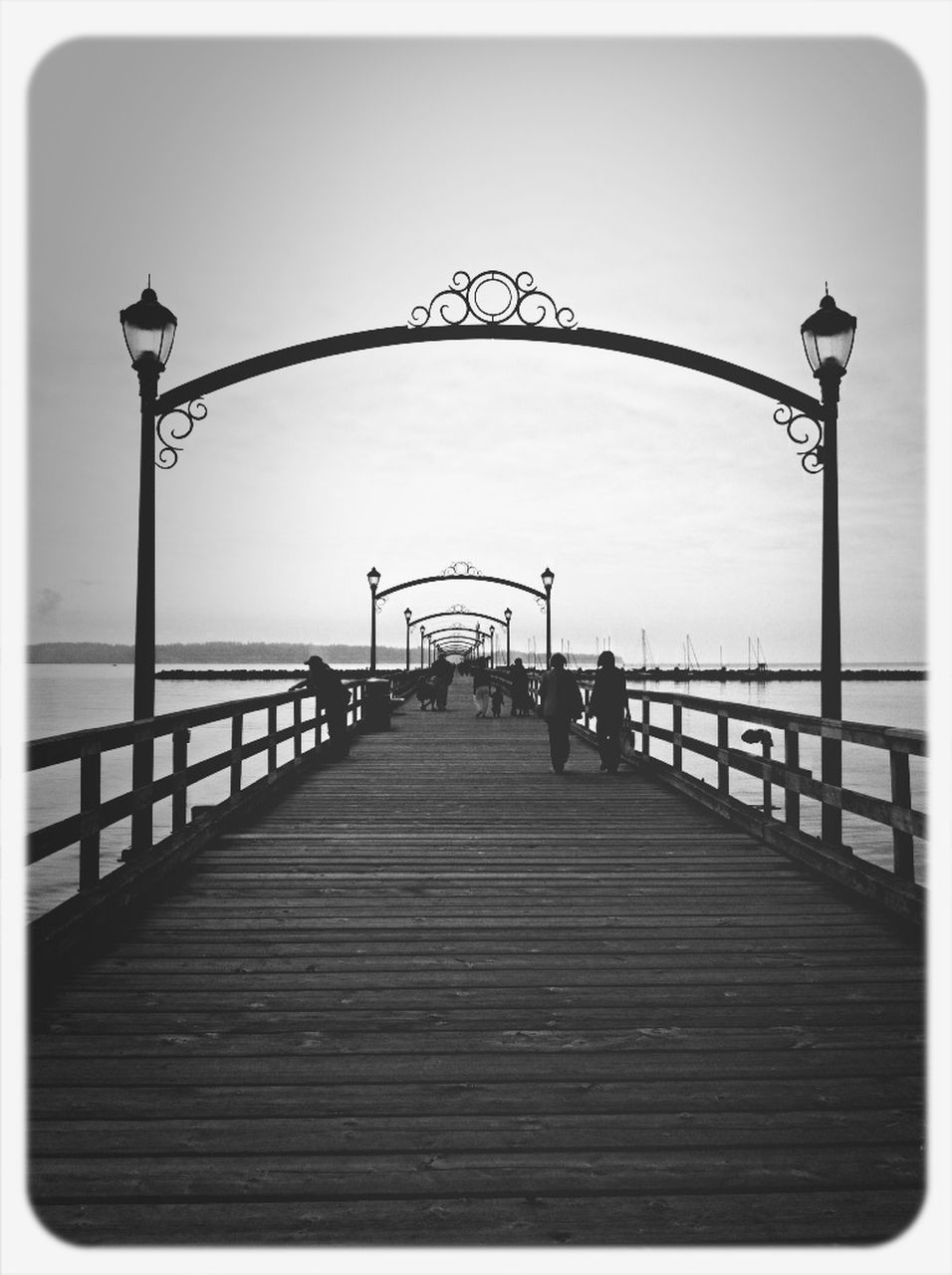 sky, clear sky, bridge - man made structure, outdoors, water, sea, day, nature, no people