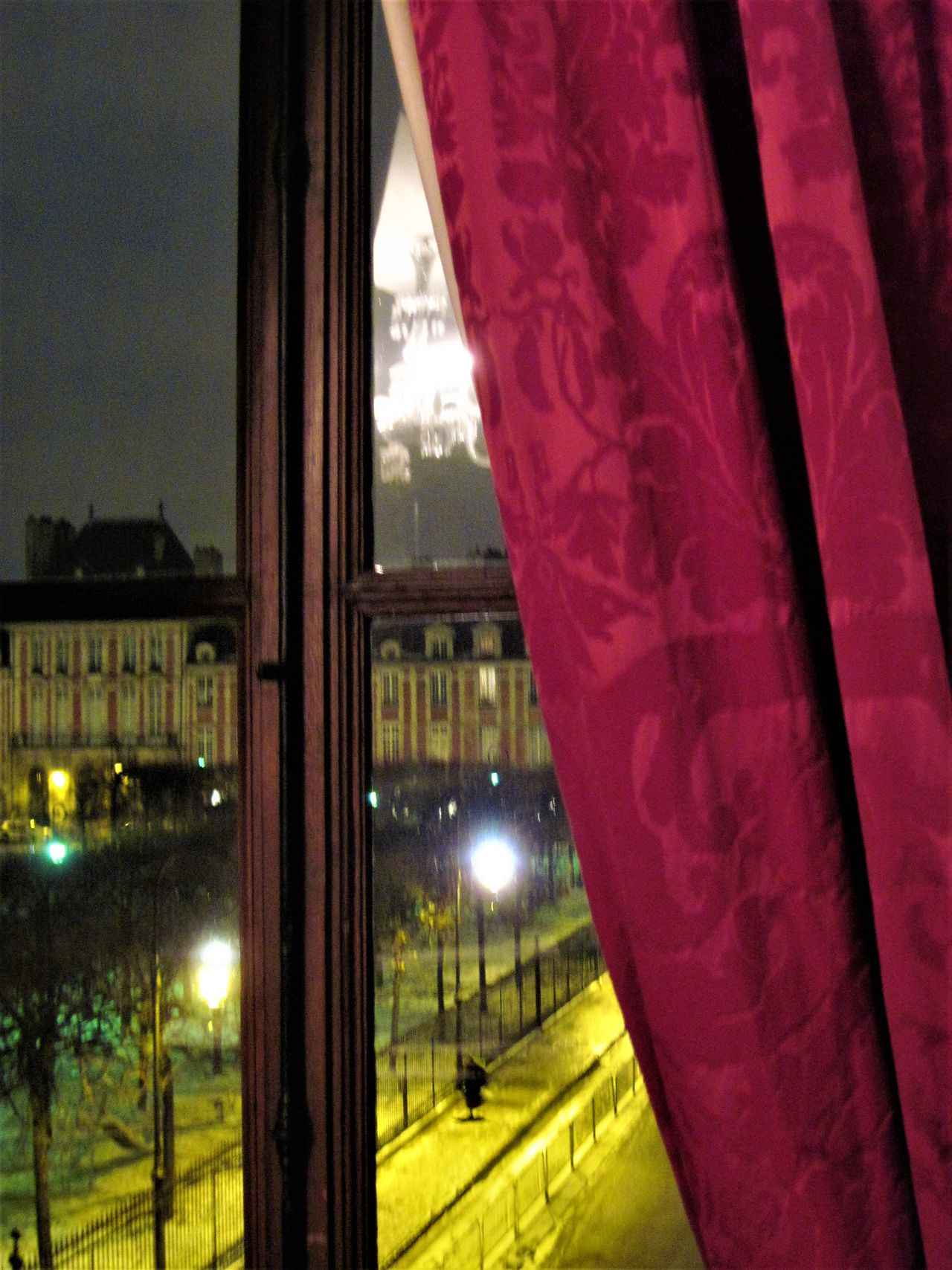 Architecture Building Exterior Built Structure City Curtain Illuminated Night No People Outdoors Place Des Vosges Reflection Tree Victor Hugo House