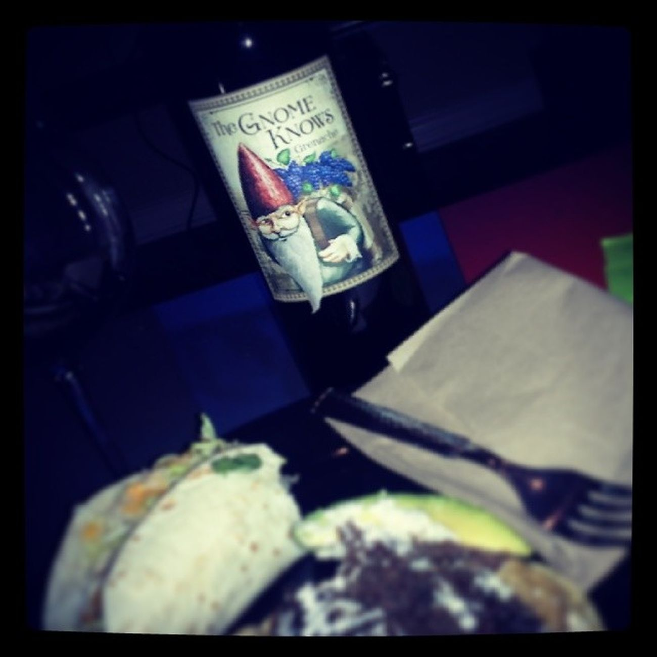 The Gnome Knows what's up... Torchystacos Grenache Wine