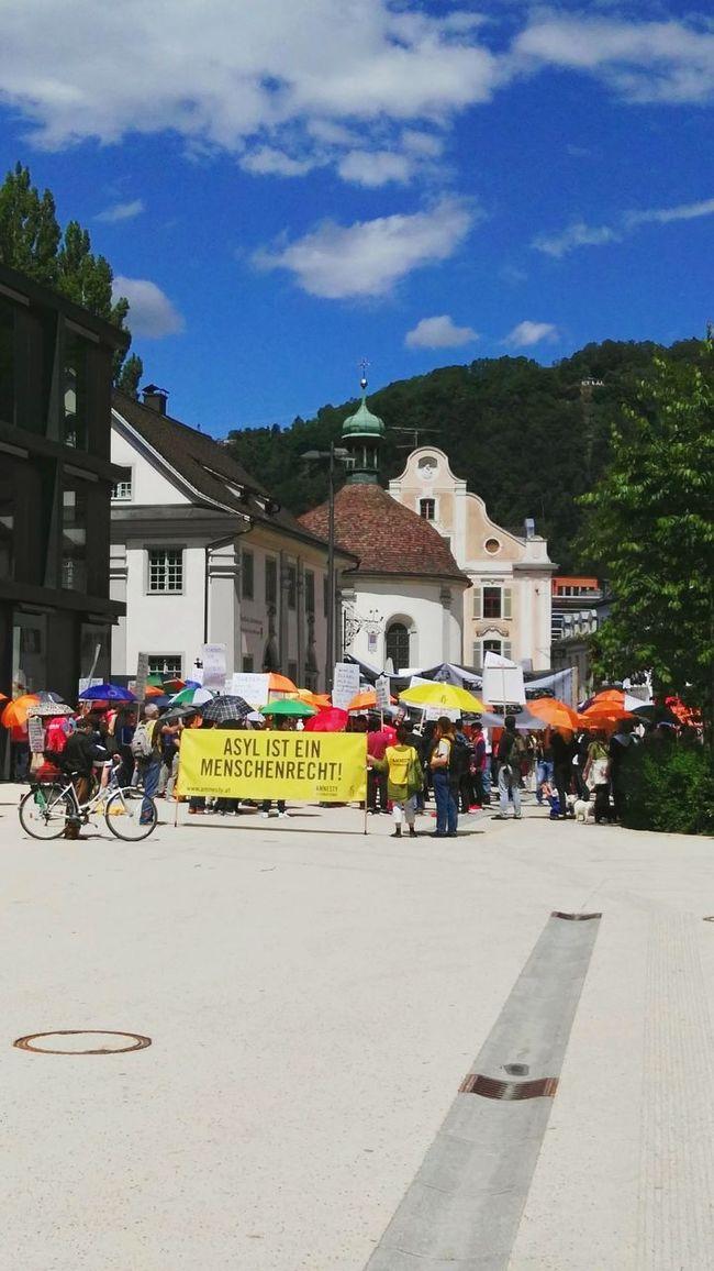 Demo For Asylum Asyl Demo Amnesty International AmnestyDemonstration, Bregenz