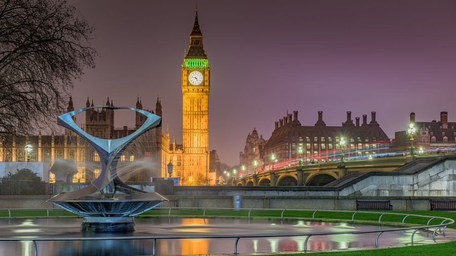 16x9 Architecture Big Ben Capital Cities  City Clean Copy Space Crisp Dusk England Famous Place Cities At Night Iconic International Landmark Landmark Light Trails London Long Exposure Naum Gabo No People Reflection London Lifestyle Tourism Travel Destinations Westminster Paint The Town Yellow