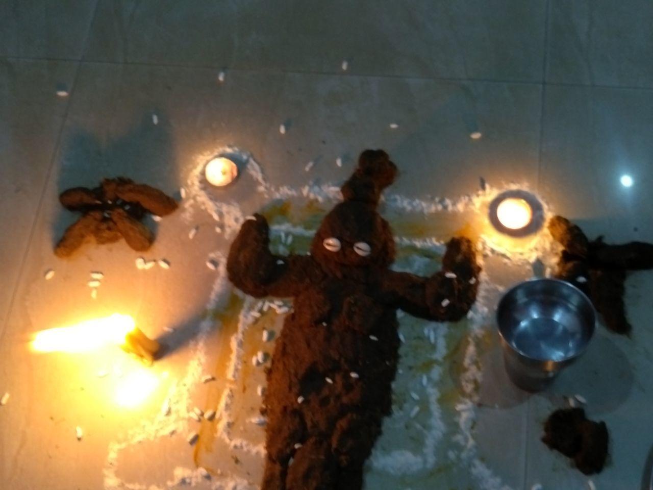 #3XSPUnity #beautyoflife #FamilyTime #FestivalTime #God #GovardhanPooja #LordKrishna #My Year My View #togetherness Illuminated Indoors