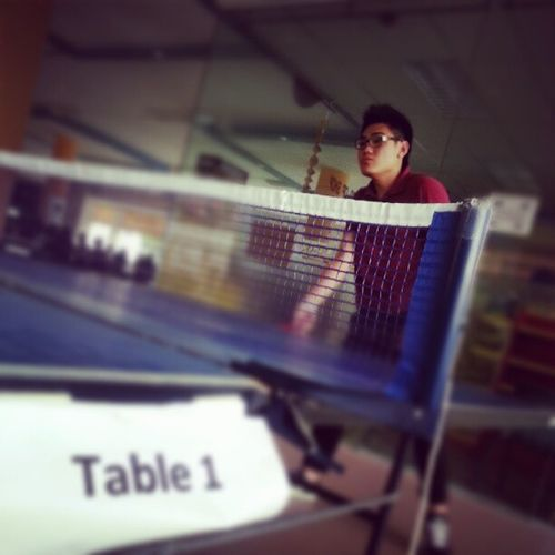 Some ping pong before next class Candid Sports Singapore School Students ITE