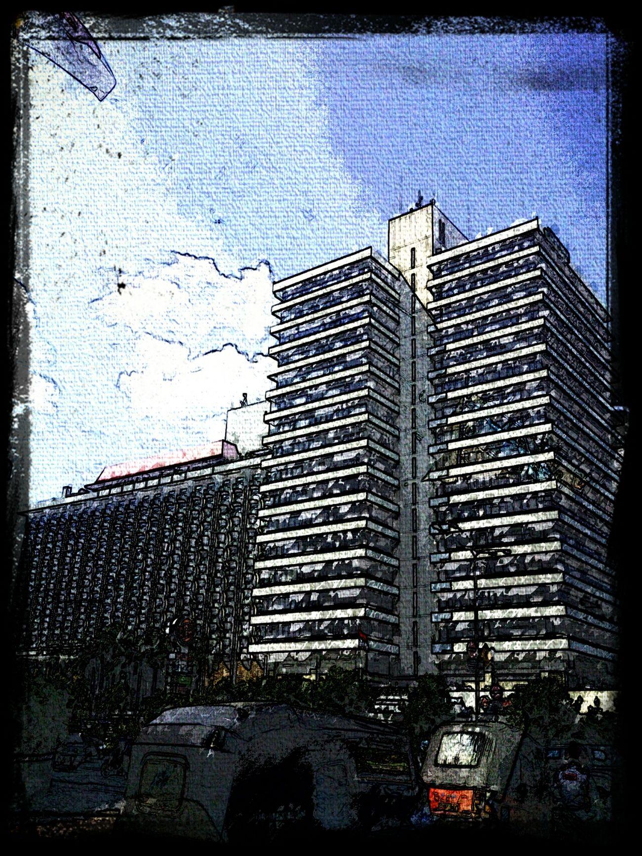 Sari Pan Pacific & Skyline Building on a sketch Sunset #sun #clouds #skylovers #sky #nature #beautifulinnature #naturalbeauty #photography #landscape Instagood, #tweegram #photooftheday #sketch,#sketchclub,#malen,#painting,#instagram,#picoftheday,#art,#star,#followme,#follo Streetphotography