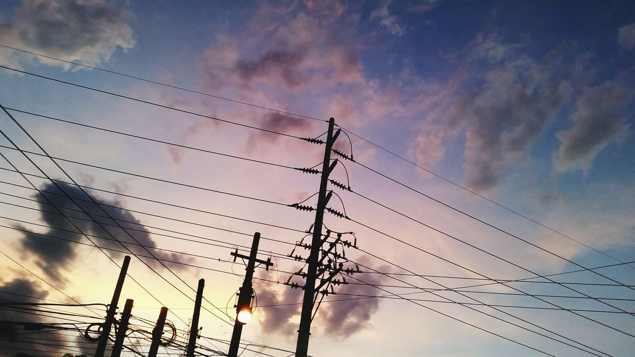 Sunset No People Sky Silhouette Outdoors Cloud - Sky Nature Dramatic Sky Electricity  Power Line  Connection Wire Tranquility Beauty In Nature Scenics Water Day