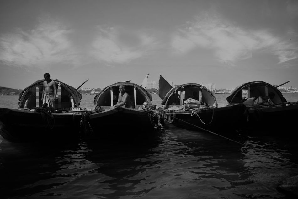 #Boats #bong #ganga #river #landscape #photography #nature  Cloud - Sky Day Mode Of Transport Moored Nature Nautical Vessel Outdoors Sky Transportation Water Waterfront Yacht