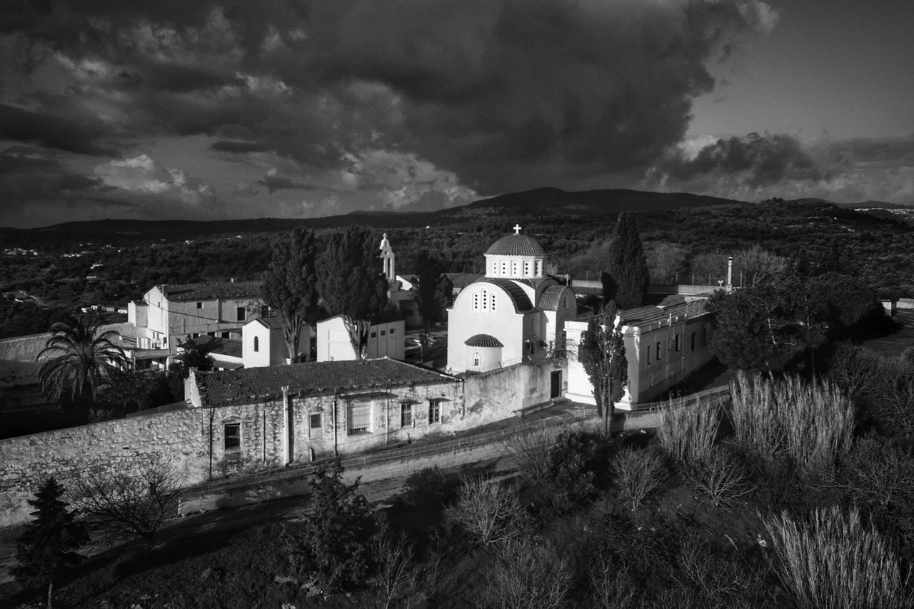 Blackandwhite Church Architecture Monastery Tranquility Morning Light Aerial View Dronephotography Church Architecture Religious Architecture Aerial Shot Blackandwhite Photography Travel Destinations Cloud - Sky Scenics Beauty In Nature Religion Calmness Outdoors Malephotographerofthemonth Building Exterior Early Morning Tranquil Scene Dramatic Sky Place Of Worship