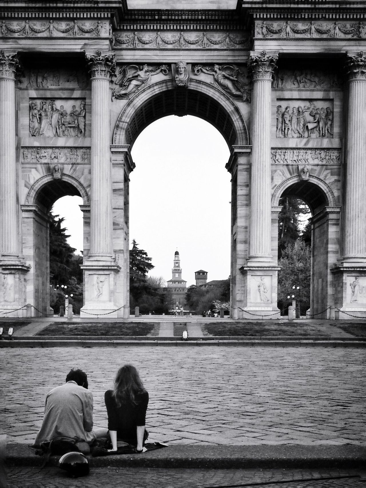 Monuments And Melodies // Arco Della Pace Milano Italy // Olympus OM-D EM-1 Streetphotography Blackandwhite The Architect - 2015 EyeEm Awards Embrace Urban Life Enjoy The New Normal The Architect - 2017 EyeEm Awards Neighborhood Map