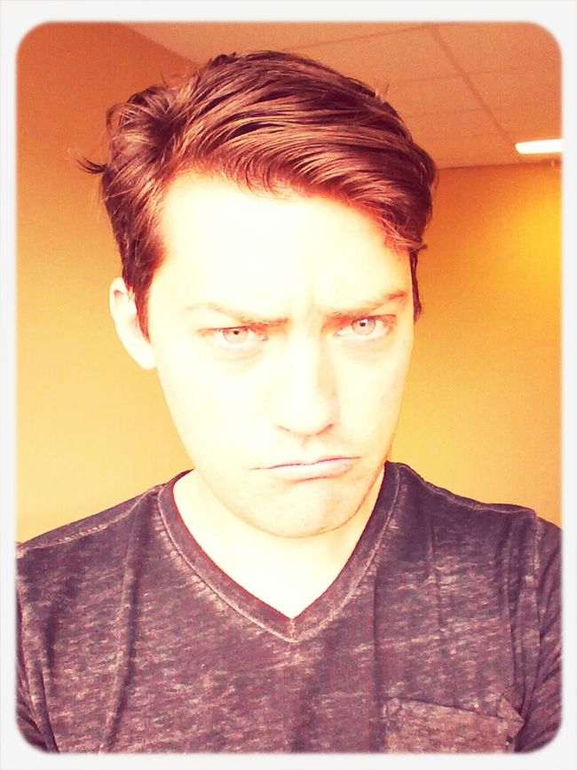 This is what I look like when I'm hungry. When, if prolonged I get angry. When I'm hungry and angry I get 'hangry'.