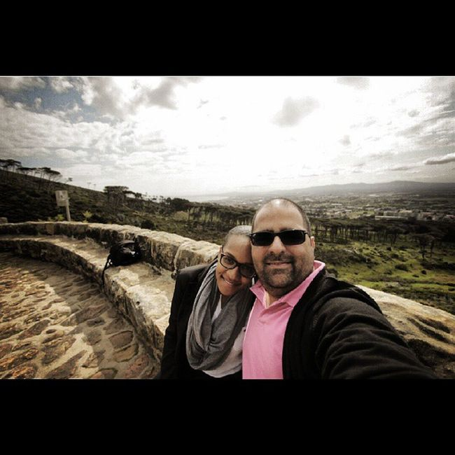 Capetown Rhodesmemorial wide-angle selfie... :) Southafrica with my lovely @selmarosario