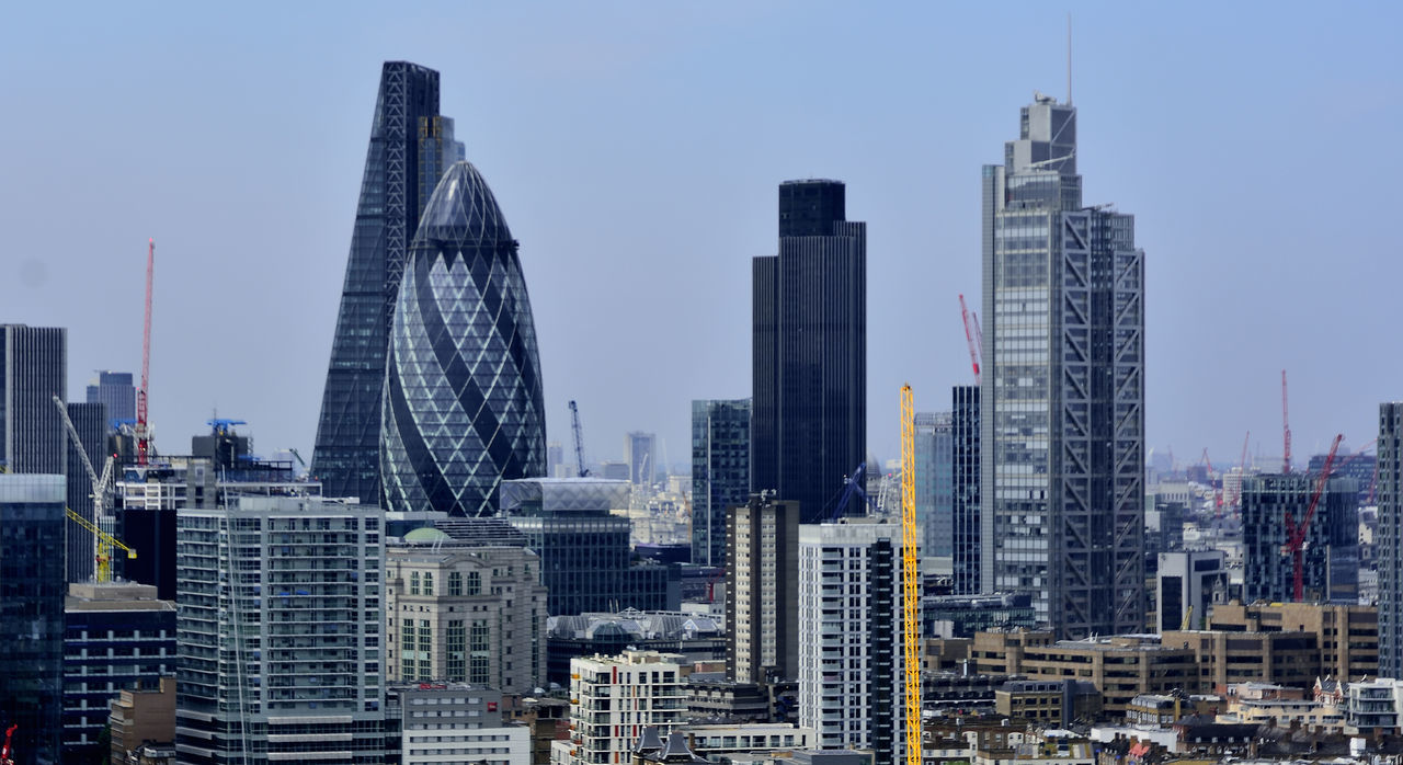 View from the Helipad at The Royal London Hospital, home of the lifesaving London Air Ambulance - HEMS. Architecture Building Built Structure Capital Cities  City City Life Day Modern Office Building Tall - High The Architect - 2016 EyeEm Awards The Gherkin Building The Landscapist - 2016 Eyeem Awards Travel Destinations
