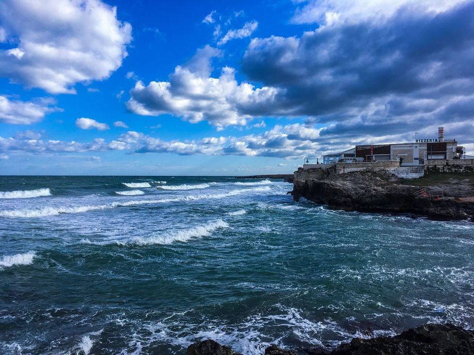 Stormy sea 2 Sea Cloud - Sky Sky Water Horizon Over Water Nature No People Building Exterior Beauty In Nature Outdoors Beach Built Structure Scenics Wave Architecture Day