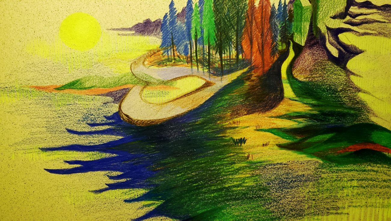 Painting Drawingtime Islands Forests Hills Nature 艸木森森 Colorful Oceans